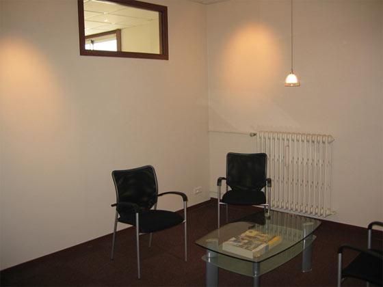 Photo d'un espace d'accueil des bureaux à louer au centre d'affaires Baraban