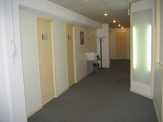 Photo d'un espace d'accueil des bureaux à louer au centre d'affaires Delta